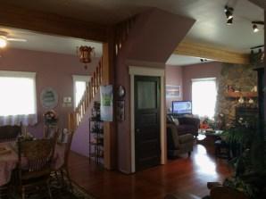 Living room basement entrance