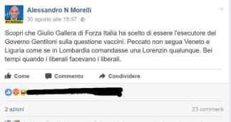 Alessandro Morelli contro lorenzin e Gallera
