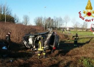incidente stradale con auto rubata