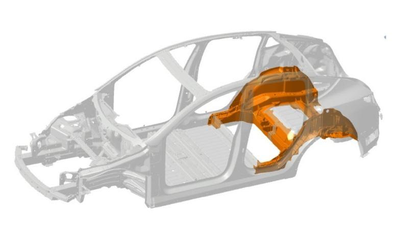 tesla-cambia-la-forma-de-fabricar-el-subchasis-del-model-y:-de-70-piezas,-a-solamente-2