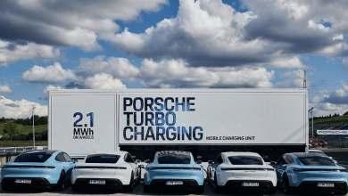 Photo of Porsche presenta un trailer de 2,1 MWh para cargar Porsche eléctricos en trackdays