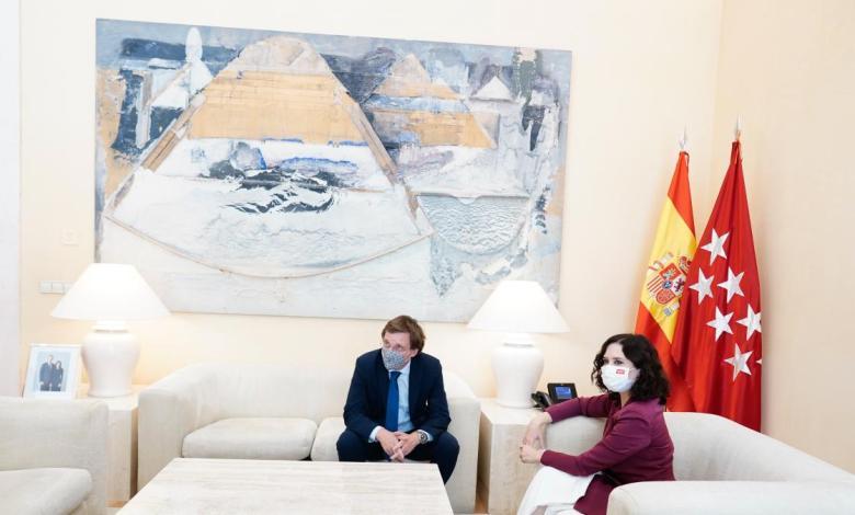 madrid-nuevo-norte-y-la-reactivacion-del-turismo-centran-la-primera-'cumbre'-de-la-legislatura-entre-ayuso-y-almeida