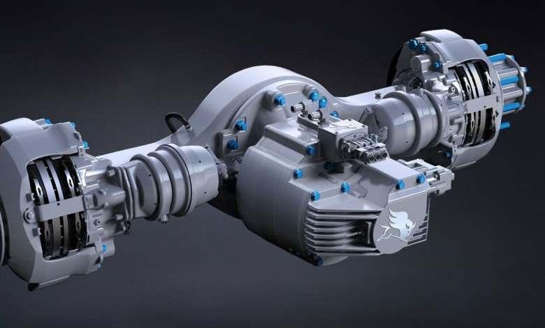 este-es-el-eje-electrico-integrado-meritor-14xe-para-el-camion-electrico-de-hyliion