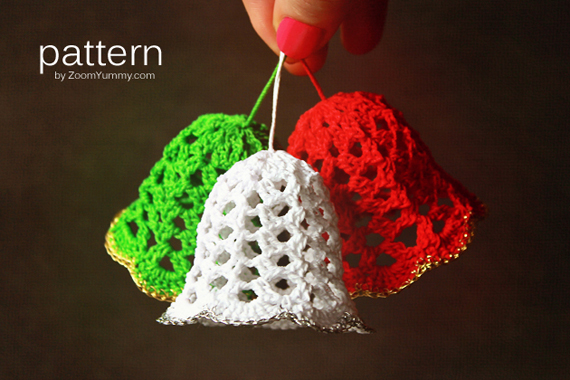 Knit Ornament Bells Pdf Printable