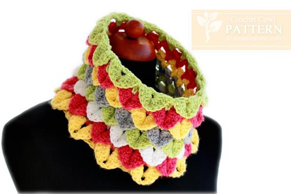Crochet Crocodile Stitch Cowl