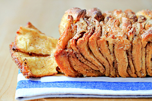 cinnamon sugar pull apart bread recipe with step by step pictures and list of ingredients, homemade cinnamon sugar pull-apart bread, pictures, ingredients, images