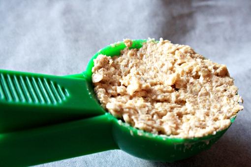crispy-oatmeal-cookies-scoop