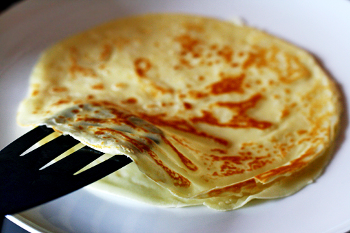 crepes with cream cheese filling recipe with step-by-step images