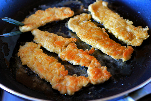 crispy chicken fingers recipe with step by step pictures