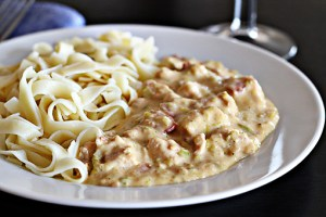 chicken Stroganoff recipe with step by step pictures and list of ingredients, recipe, fall, winter, creamy sauce, pictures, images