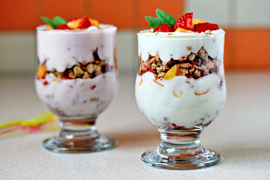 fruit yogurt parfaits recipe with step by step pictures
