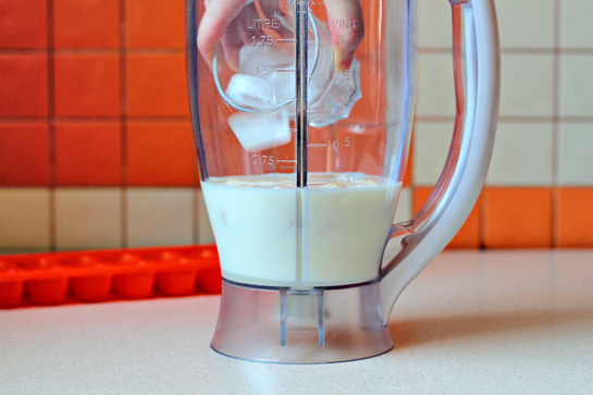 banana-milkshake-step-by-step-picture-recipe, add the ice cubes