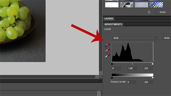 photography, adjusting exposure with levels in photoshop