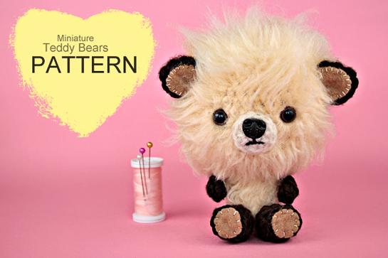 crochet mini teddy bears by zoomyummy.com