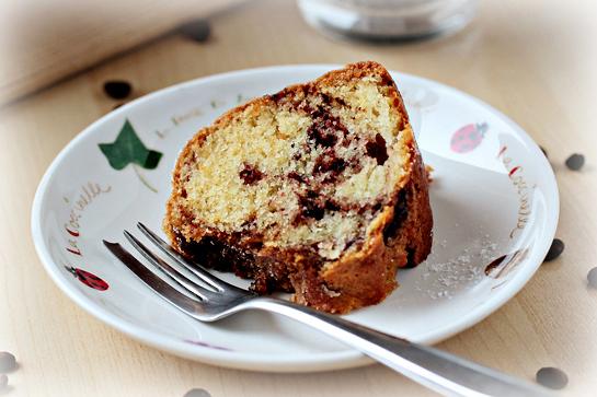 Marbled coffee cake recipe.