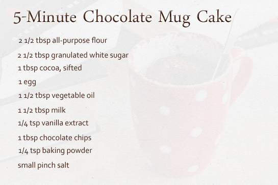 5-minute-chocolate-mug-cake-ingredients