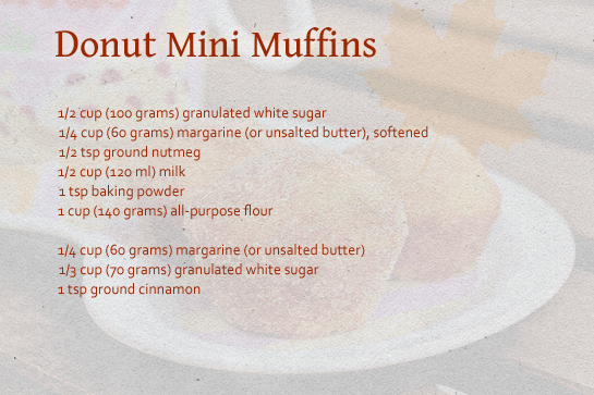 donut mini muffins ingredienst recipe step by step with pictures