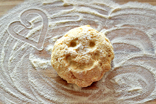 Garlic cheese mini biscuits recipe with step by step pictures. Doug ball on lightly floured wooden working surface.