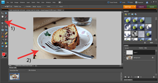 how to add white misty border to a picture Photoshop tutorial, new transparent layer, elliptical marquee tool