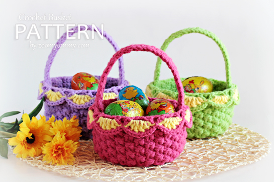 New Pattern Crochet Baskets Pattern Zoom Yummy Crochet Food