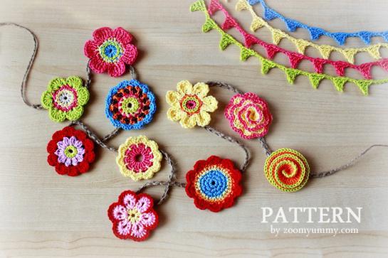 New Pattern – Big Crochet Flower Party « Pattern « Zoom Yummy ...