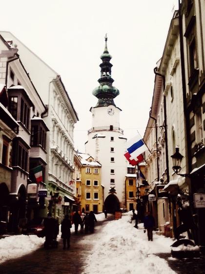 a walk in city center