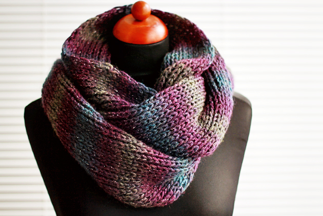 Simple Knit Infinity Scarf Diy Zoom Yummy Crochet Food