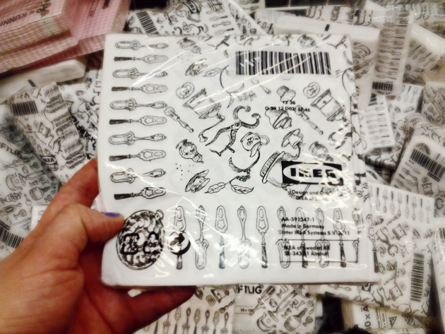 ikea nice black and white paper napkins