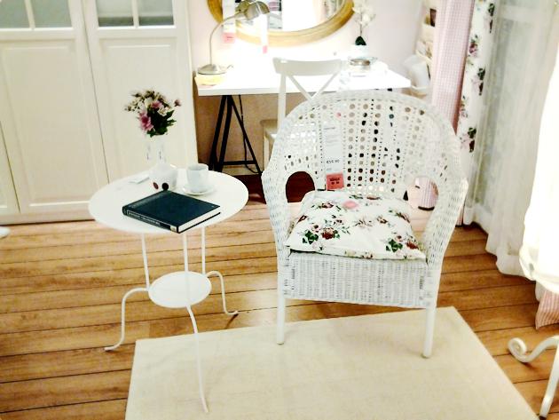 ikea white chair shabby chic