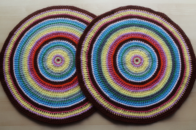 colorful crochet circles