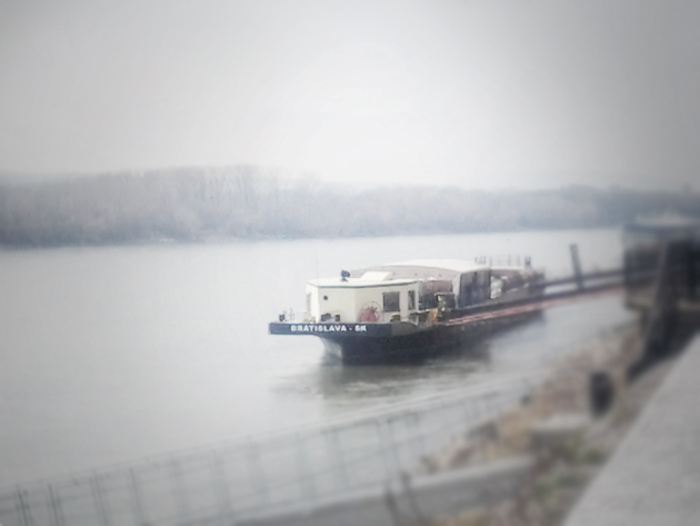 walk along the river Danube