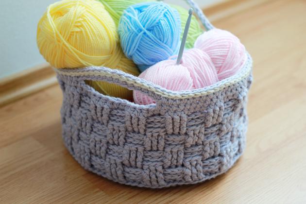big crochet basket