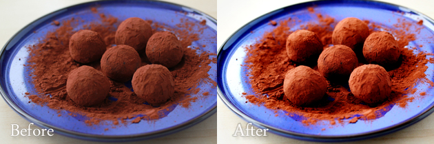truffles - rad lab actions - before and after