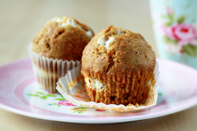 inside-out carrot cake muffins recipe