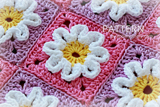 Crochet 3D Flower Baby Blanket Pattern