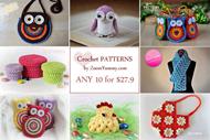 Pick Any 10 Crochet Patterns Bundle