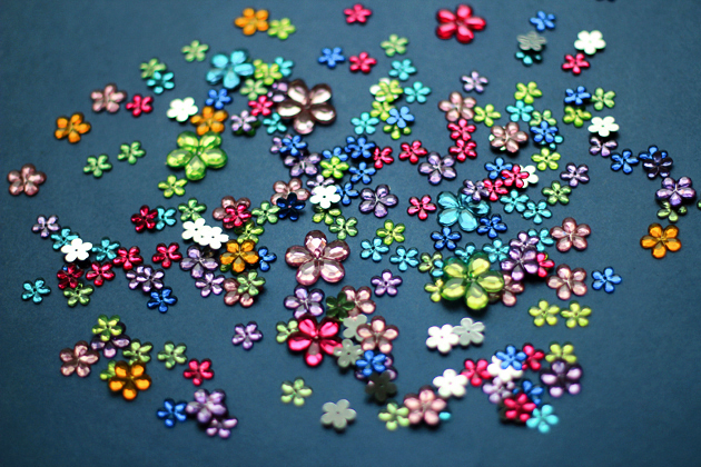 colorful glass flower beads for crafting