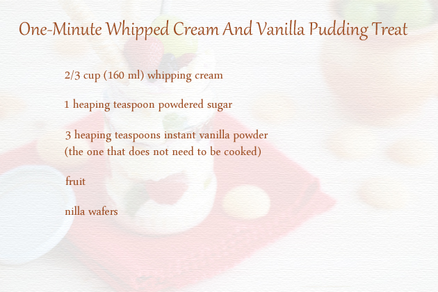 one-minute treat ingredients