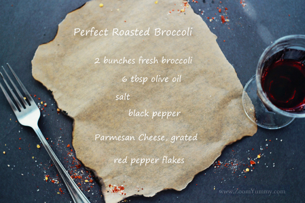 perfect roasted broccoli - ingredients
