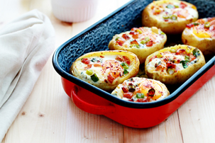 Baked Egg Potato Bowls Recipe