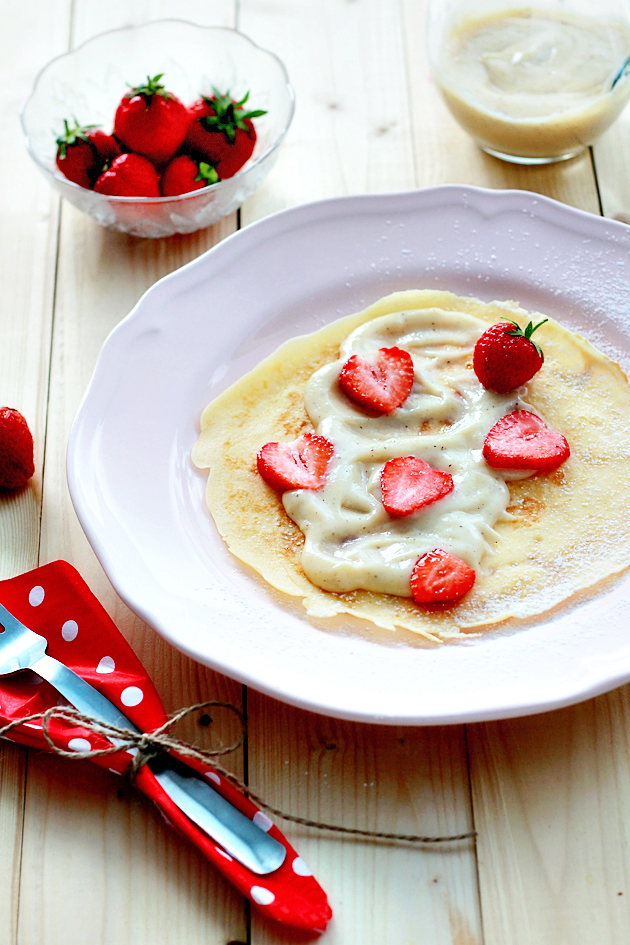 crepes with strawberries and pastry cream recipe