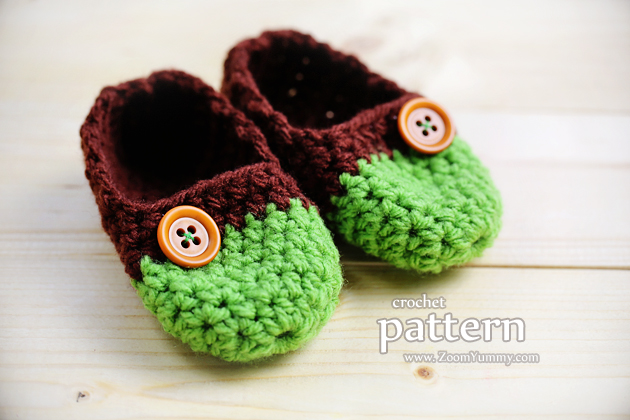 the easiest crochet baby slippers pattern - age 0-3 months