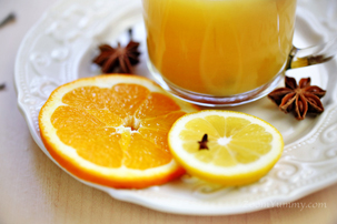 Hot Orange Spice Beverage
