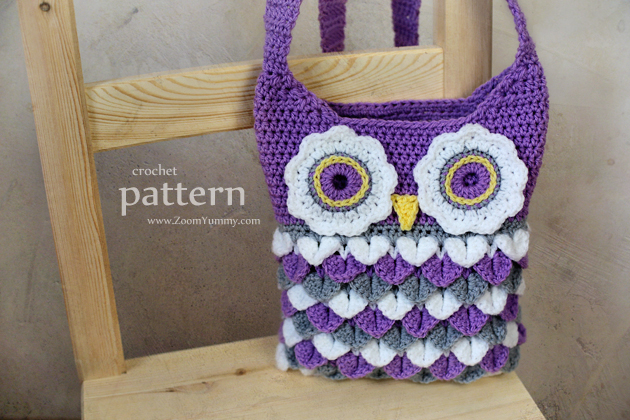 New Pattern Crochet Owl Purse With Feathers Crochet Zoom Yummy