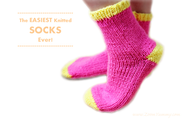 The Easiest Knitted Socks Ever Diy Diy Zoom Yummy Crochet