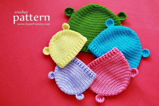crochet pattern - crochet hats for baby's first year