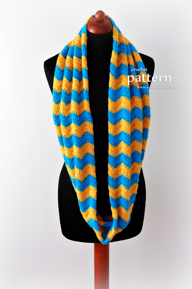 New Pattern Crochet Chevron Infinity Scarf Crochet Zoom Yummy