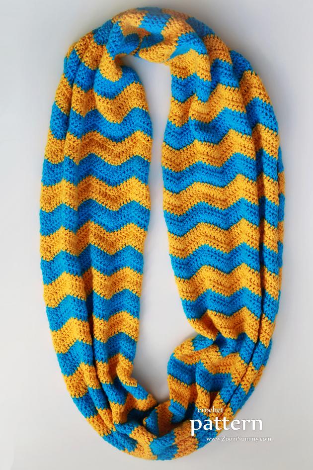 New Pattern Crochet Chevron Infinity Scarf Crochet Zoom Yummy