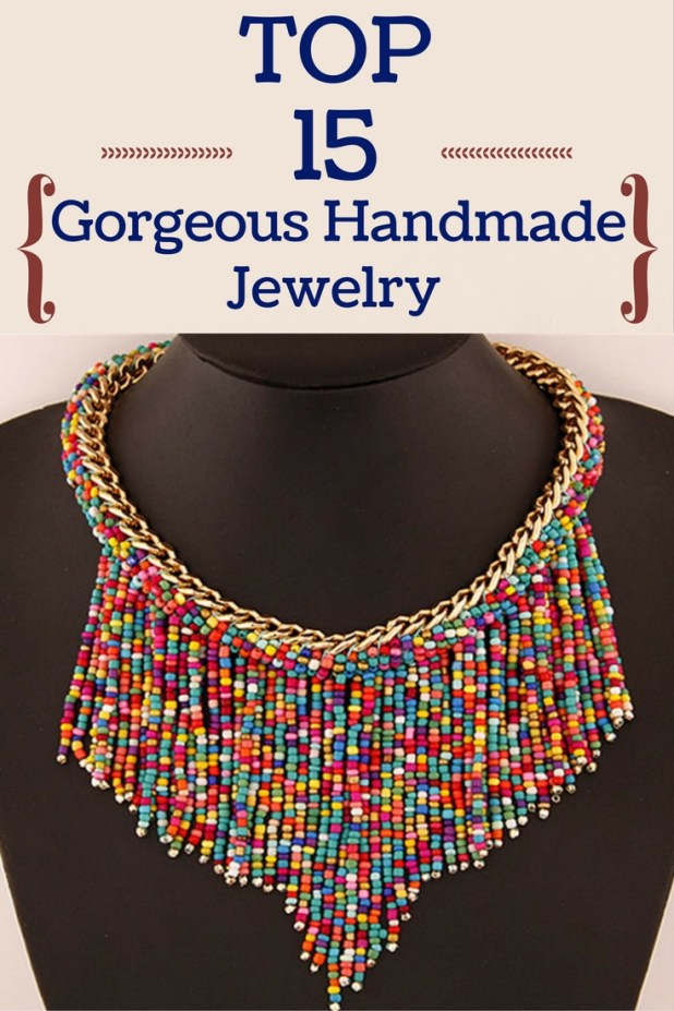 Top 15 gorgeous handmade jewelry zoomzee instead spending money on jewelry why not creating it yourself wear your own creation with confidence or make a present to your best friend solutioingenieria Choice Image