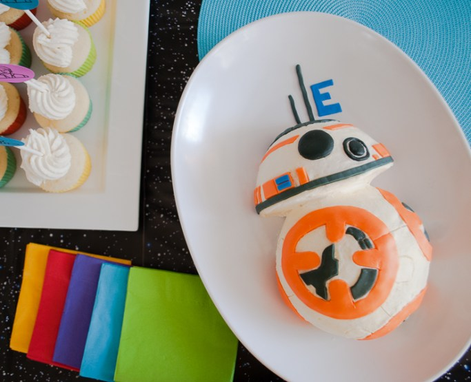 How To Make An Easy Star Wars Bb 8 Birthday Cake For A Party